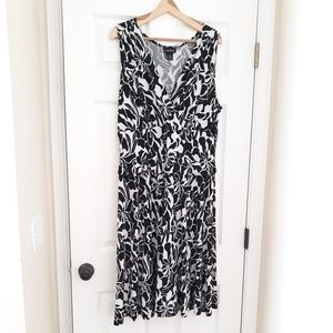 Lane Bryant Black and White Dress 14
